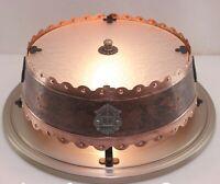 KAISER Deckenlampe Plafoniere Kupfer 60er Kaiser-Leuchten Rustikal Schmiedeisen