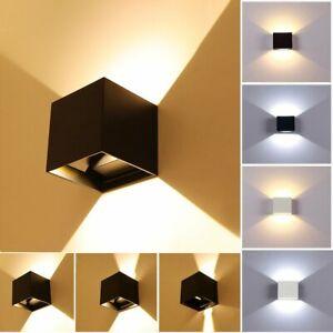Cube Würfel LED Wand Leuchte Lampe Up Down für außen/innen wasserdicht IP65 DHL