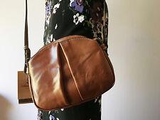 Patricia Nash Tan Brown Italian Leather Chania Crossbody Handbag NWT
