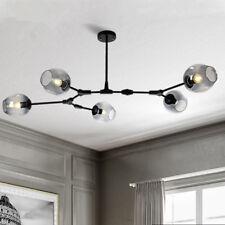 Black Chandelier Lighting Glass Pendant Light Kitchen Flush Mount Ceiling Lights