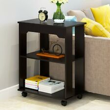 End Table w/ Wheels 3-Tier Sofa Side Bedroom Night Coffee Modern - G-trade US❤