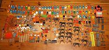 HUGE LOT of 453 vintage 1970s Playmobil People Horses Furniture Accessories etc.