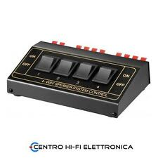 Commutatore audio per casse acustiche 1 ingresso 4 uscite Potenza max 200W