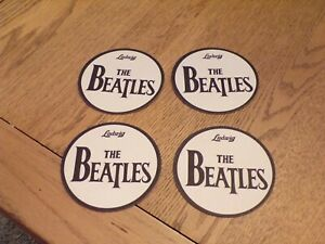 THE BEATLES. 4 CARD DRINK COASTERS.