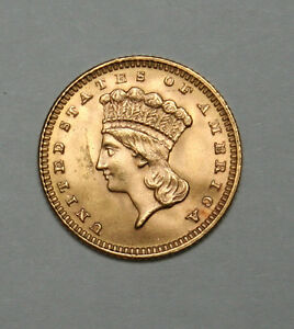 1888 G$1 GOLD DOLLAR TYPE 3 INDIAN HEAD amazing coin and condition!!!!+++++