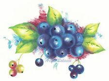 Ceramic Decals Blueberry Blueberries Fruit Bunch