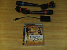 SingStar Latino (Game & Microphones) Bundle (Sony Playstation 3, 2009) * Used *