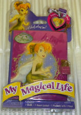 Disney Fairies Tinkerbell My Magical Life Diary Book w/ Padlock Heart Locket New