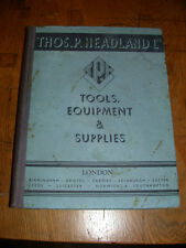 Book: Tool Catalogue: Thos.P.Headland Tools, Equipment and Supplies