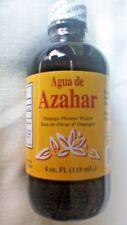 Agua De Azahar 4 Oz. Orange Flower-Blossom Water Drink Ease Stress Glass Bottle