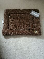 Fur Mat Dog Bed cage mat brown washable new cat small dog double sided. Gor pets