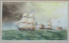 Nice John Ford Maritime Painting watercolor 50cm x 28cm nautical, Ships Seascape