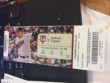 2016 MINNESOTA TWINS VS DETROIT TIGERS TICKET STUB 9/22 BYRON BUXTON HR #10