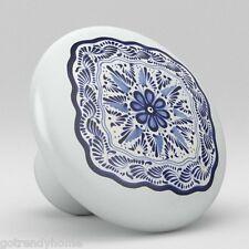 Round Talavera Design Ceramic Knobs Pulls Kitchen Drawer Cabinet Dresser 1225