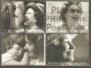 Great Britain: 4 used stamps of set, 80 years of Queen, 2006, Mi#2400-3