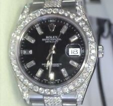Rolex Datejust 126200 36mm White Gold Steel Diamond Dial Band Lugs 118389 NEW