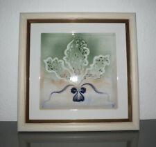 Meissen, Wandplatte, Gemälde, abstrakte Blumenmalerei, Prof. Heinz Werner