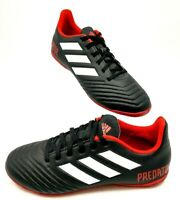 "Adidas Predator Tango Men's Size 6.5 Black Red 18.4"" Indoor Soccer Shoe Sneakers"