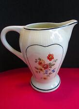 Vintage PORCELIER Vitrified China CREAMER Field Flowers
