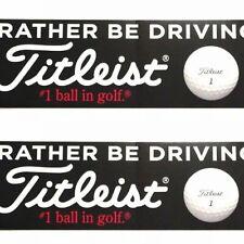 (2) Golf I'd Rather Be Driving A Titleist Bumper Window Sticker Decal Vinyl Uv