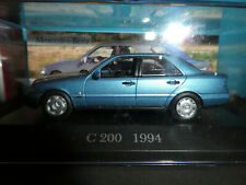 Mercedes Benz C 200 in Metallic Blue 1994 . Made by De Agostini 1:43 Scale New.