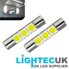 28MM WHITE LED SUN VISOR CAR VANITY LIGHT LAMP FUSE FESTOON BULBS 269 T6.3 30MM