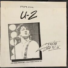 U2 From Us To U RARE Limited Edition Vinyl 2xLP Tour London '82 Philly '83  Bono