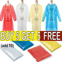 4x pink Adult Emergency Waterproof Rain Poncho Hooded Music Concert Festival