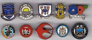 10 x ENGLAND NON LEAGUE FOOTBALL ENAMEL PIN BADGES JOB LOT BULK BUY #61