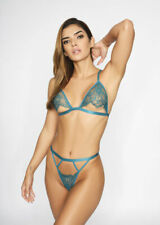 Ann Summers The Tempting Crotchless Set, Teal - Sizes S - L