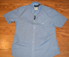 Mens Chaps Hydro Blue Button Dress Shirt Sz 2xl XXL