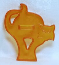 Amscan Vintage Plastic Cookie Cutter - Scary Black Cat Halloween Haunted House