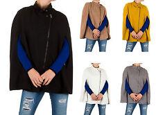 Markenlose taillenlange Damenjacken & -mäntel ohne Muster mit Reißverschluss