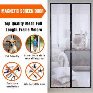 Rideau de Porte Moustiquaire Anti Moustique Insecte Magnétique Auto Fermeture FR