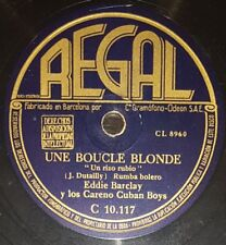 FRENCH 78 rpm RECORD Regal EDDIE BARCLAY Careno Cuban Boys SAMBA Joli chapeau