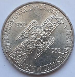 Bund, 5 Mark 1952 D, Germanisches Museum, J. 388