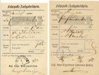 """BAYERN """"TITTMONING"""" HKS in blau (selten) u. schwarz sowie L1 jeweils a. drei Bf"""