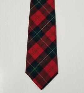 VTG Pendleton 100% Wool Mens Tie Necktie Tartan Plaid Multi-Color Red USA NWOT