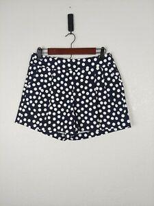 J Crew Polka Dot Pleated Pockets Shorts NEW Womans 6 High Waist Rise