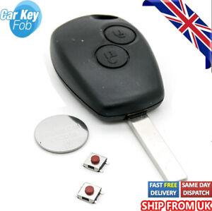 DACIA DUSTER SANDERO LOGAN 2 button remote key fob case shell Repair Fix Kit