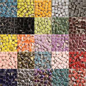 Tiny Ceramic Mosaic Tiles For Crafts Square Porcelain Art Pieces Hobbies 50pcs