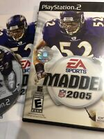 Madden NFL 2005 Sony PlayStation 2 PS2 Complete W Manual Free Shipping