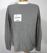 FIVE FOUR NWT LONG SLEEVE REVERSIBLE SWEATER SIZE M MEDIUM HEATHER GRAY ORANGE