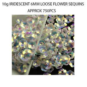 750 pcs Iridescent Shiny 6mm Flowers Sequins Paillettes Crafts Wedding Confetti