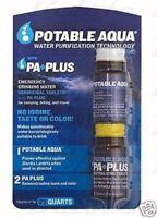 POTABLE AQUA Water Purification Tablets w/ PA Plus NEW