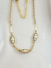 Vintage Signed Sara Coventry Gold Tone Chain and Pearls with Extension