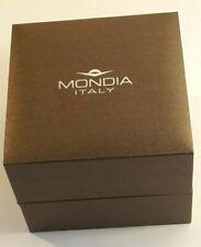 MONDIA ITALY-SCATOLA PER OROLOGIO-VINTAGE-RARE WATCH BOX-CASE-CAJA-BOITE