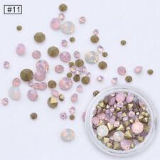 3.5g Sharp Back Nail Art 3D Rhinestones Multi-size Opal Pink Stones Decoration