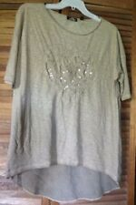 Via Milano short sleeve brown top-heart on the front-large-NWOT-large
