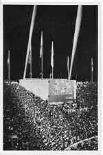 WWII GERMAN- Large 1936 OLYMPIC Photo Image- Sports- Nighttime- Leader Board